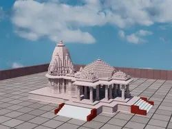 Pink Stone Temple, For Religious Places, Size: 16 Feet