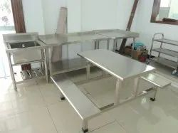 Stainless Steel 202 Grade Dining Table Set