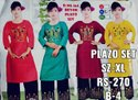 Ladies Plazo Cotton Suit