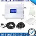 Tri Band 2G, 3G, 4G Cellphone Network Enhancer Amplifier Kit for Home, Basement, Office Hotel etc