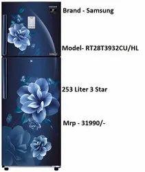 Samsung 253  Inverter Frost-Free Double Door (RT28T3932CU/HL, Camellia Blue, Convertible)
