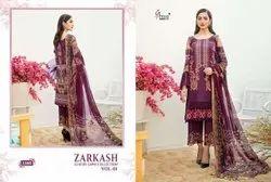 Shree Fabs Zarkash Luxury Lawn Cotton Pakistani Summer Dress Materials