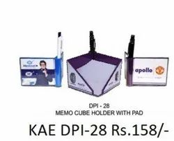 Memo Cube Holder With Pad