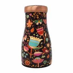 Meena Print Copper bedroom bottle