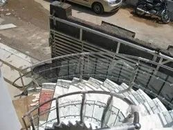 Stairs Stainless Steel Spiral Railing, For Home