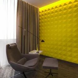 White 3D GFRG Walldeco Gypsum Wall Tiles, Size: Small, Thickness: 35 mm