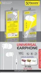 TP Troops Universal Earphone (Stylish Design) 7059  (Box-50)  Earphone