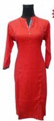 Red Ladies Long Top