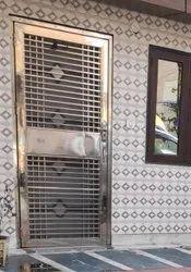 Hinged 202 Stainless Steel Door, For Residential