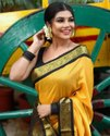 Present Heavy Silk Saree With Beautiful Deasign Look