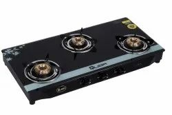 LPG Quba Silver Star 3 Burners Gas Stove, For Kitchen