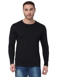 Hosiery Black Full Sleeves Casual T Shirt