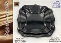 Catering Plates / Black Glass / Flying Dolphin, Product Type: Serving Plate, Size: 12 Inch And 10 Inch