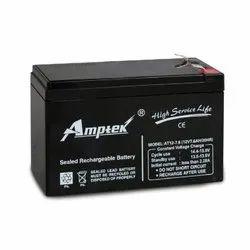 Amptek AT 12V7.6 12 Volt 7.6 Ah SMF VRLA Industrial Rechargeble Batteries, Lead Acide
