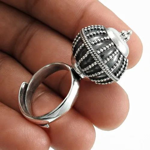 Exquisite 925 Sterling Silver Adjustable Ring Handmade Jewelry