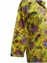 Yellow Floral Printed Cotton Night suit