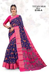 TITAN SILK Soft Cotton SAREES