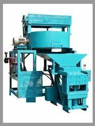 semi Automatic 4 Bricks Machine