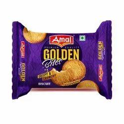 Amal Golden Bites Crispy & Crunchy Biscuit, Packaging Type: Packet
