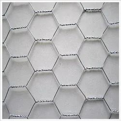 Galvanized Iron Silver GI Hexagonal Wire Mesh, For Industrial, Thickness: 0.5mm