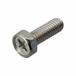 Full Thread Type Round Stainless Steel Screw Bolt, Material Grade: SS304, Size: 10 Mm
