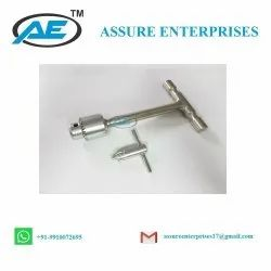 AE Stainless Steel T Handle With Chuck And Key, For Orthopedic Instrument