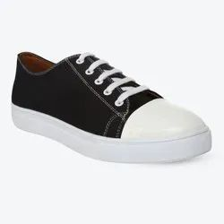 White and Black Mens YinYang Canvas Sneaker Shoes