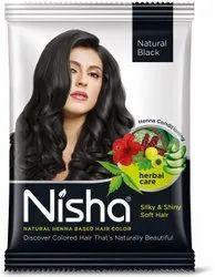 Nisha Natural Colour Hair Henna Powder (black, 10 G) - Pack Of 10