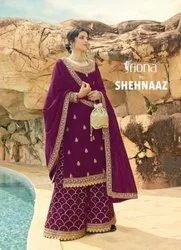 Fiona Shehnaaz Georgette With Embroidery Work Designer Suit Catalog