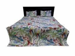 Bird Print Cotten Bed Comferter With Two Pillow