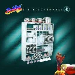 BOBBY S.S. Wall Mounted Kitchen Storage Rack BKS-3836
