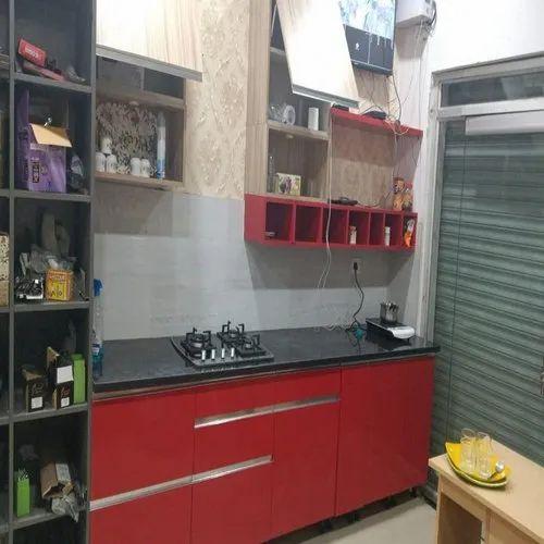 Modern Single Wall Modular Kitchen