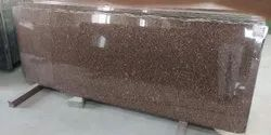 Polished Brown Granite Slab, For Flooring, Thickness: 19 mm