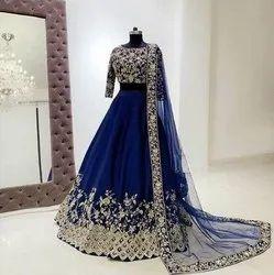 Sanvedana Fashion Tafeta silk Heavy Embroidery Work Lehenga