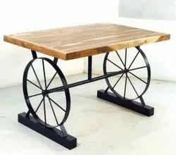 S.R. Enterprises Polished Mild Steel Table, For Restaurant, Size: 4 Feet (height)