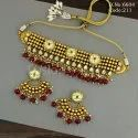 Fusion Arts Antique Kundan Handmade Choker Necklace Set