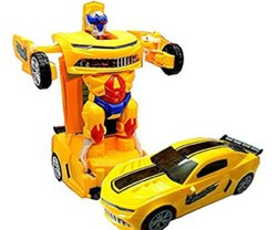 Yellow Robot Car Toy, No. Of Wheel: 4
