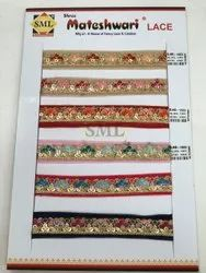 Designer Embroidery Lace, For Garments, Width: 1 INCH