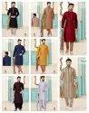 Festive Wear Mens Vol 1 Designer Kurta Payjama Mens Wear Catalog Collection