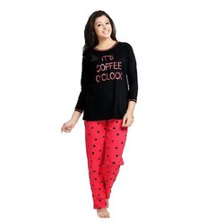Multicolor Cotton Ladies Night Pajama