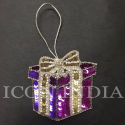 Multi Color Handmade Christmas Gift Box Hanging