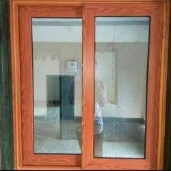 Light Oak UPVC Sliding Window