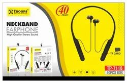 TP Troops 40 HRS Magnet Wireless Headset With Sd Card 7116 Earphone