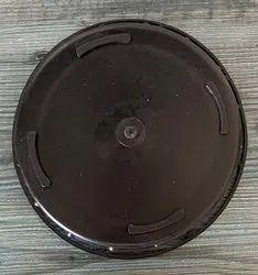 Black 6 Inch Polypropylene Cap, Round