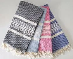 Yarn Dyed Plain Color Stripe Throw Blanket