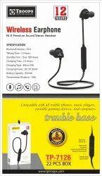 TP Troops Wireless Earphone 12hrs 6m Grnty 7126  (Box-25)  Earphone