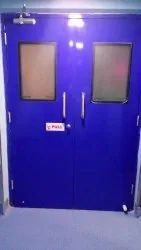 Hermetically sealed doors for hospitals