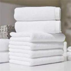 Plain Cotton White Terry Towels, 550-650 GSM, Size: 40 X 60 Cm