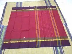 Casual Wear Multicolor Handloom Modern Designer Pure Cotton Saaree, 6.2 Meter(with blouse piece)