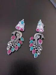 Maeri Arts Peacock Design Earrings